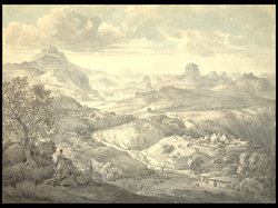 Mountainous landscape: view near the village of Asceriah (Abyssinia). 15 August 1805